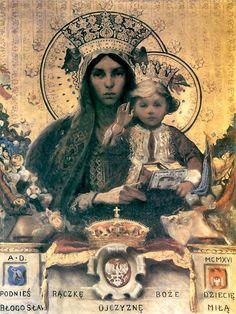 Włodzimierz Tetmajer. ŚMatka Boża z Dzieciątkiem. 1916.