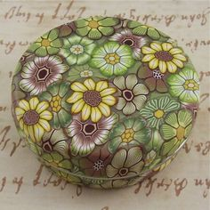 Polymer Clay Covered Tin Pill Box by polymerclayshed on Etsy
