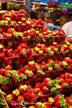 Fresas en La Boquería