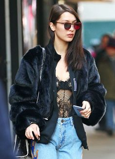 Bella Hadid model off duty vibes