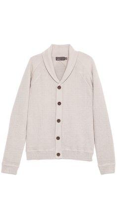 Vince Crepe Cotton Shawl Collar Cardigan. $395.00. #fashion #men #cardigan #sweater #outerwear