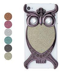 Black Owl Pattern Flash Powder Hard Case for iPhone 4/4S – USD $ 9.99