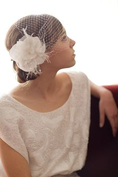 Birdcage Veil, russian veil, bandeau veil, blusher, cage veil, french netting, Vintage, Wedding headpiece, Bridal, Michelle Ships in 1 Month