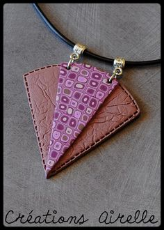 Wow.  So creative with mixing color and texture and shape! Cranberry Creations - Pendants