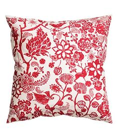 "Floral Design Accent Decorative 100% Cotton Canvas Throw Pillow Cover Cushion 20 X 20"" Reversible Floral Lace Birds Red and White Cushion Cover http://www.amazon.com/dp/B00U90YXRM/ref=cm_sw_r_pi_dp_vhgfvb1BMZGC6"