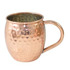 Amazon.com | DakshCraft ® Solid Hammered Moscow Mule, Outside Copper- Inside Nickle Lining - Pure Copper Hammered Cocktail Mugs, (Capacity 16 oz): Beer Mugs & Steins