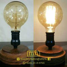 Luminária de mesa.  Table lamp.  #madeirasnogueira #cherici  #presente #artesanal #artesanato #handmade #feitoamao #madeinbsb #woodworking #marcenaria #handcrafted