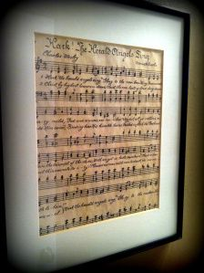 tea stained music sheets. This would be cute to frame the songs you danced to on your wedding day. You could give as a gift for father if the bride and mother of the groom. Then keep your first dance as Mr. and Mrs. for your new home.