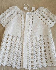 free knitting pattern for baby girl bolero How to crochet a beautiful tiny dress. This Pin was discovered by Sem Repeat After me Crochet: DIY Sweet Crochet Baby Summer Bootie by Nina Maltese Crochet Baby Jacket, Crochet Vest Pattern, Baby Girl Crochet, Crochet Baby Clothes, Baby Knitting Patterns, Crochet For Kids, Free Crochet, Hand Knitting, Crochet Patterns