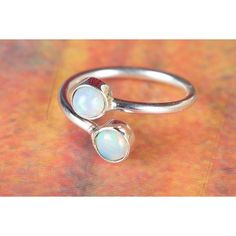 925 Sterling Silver Ethiopian Opal Gemstone Handmade Ring via Polyvore featuring jewelry, rings, sterling silver jewellery, opal jewelry, opal jewellery, sterling silver gemstone jewelry and gem jewelry