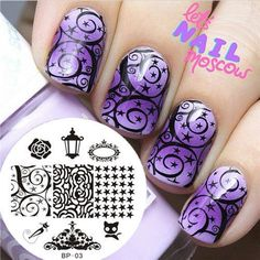Ongle-Nail-Art-Stamp-Stamping-Template-Image-plaque-BORN-PRETTY-decorations