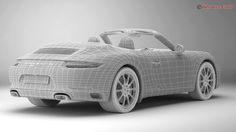 porsche 911 carrera cabriolet 2017 3d model max obj 3ds fbx c4d lwo lw lws 21