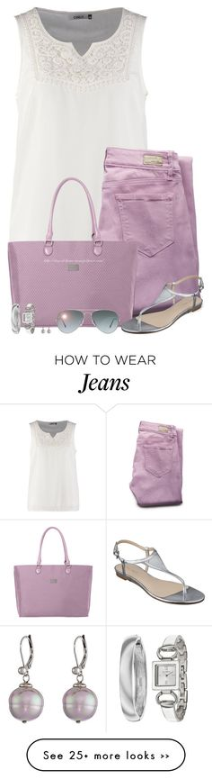 """Purple Jeans & Tote"" by stay-at-home-mom on Polyvore"