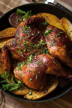 #paleo Smoked Paprika and Oregano Roast Chicken: 1 (3 1/2 to 4 pound) chicken; 4 tablespoons grapeseed or Olive oil; Juice of 2 limes (about 2 tablespoons); REPLACE soy sauce with 1/4 cup coconut aminos; 2 tablespoons smoked paprika; 1 1/2 tablespoon ground cumin; 6 garlic cloves; 1 tablespoon, plus 1 teaspoon kosher salt; 2 medium yellow onions, sliced into 1-inch rings; SUB potatoes with 1 1/2 pounds sweet potatoes or turnips; 2 tablespoons finely chopped fresh oregano