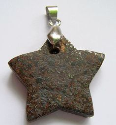 Stony meteorite jewellery, stars, hearts and discs