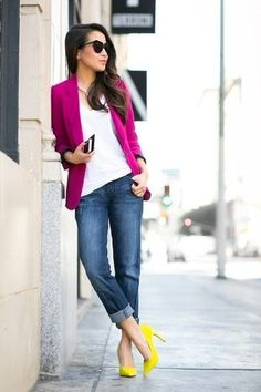 How to Wear a Hot Pink Blazer (46 looks) | Women's Fashion