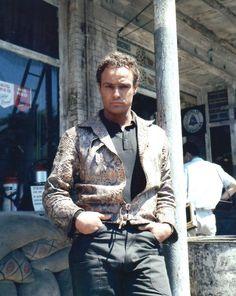 Marlon Brando as Valentine Xavier aka Snakeskin in the film The Fugitive Kind.