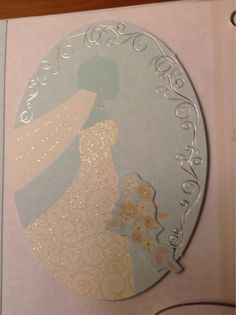 Duck egg blue and gold embossed wedding card by Upamahandmadecards, £1.75