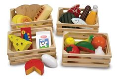 Melissa & Doug Food Groups  21 Hand-Painted Wooden Pieces and 4 Crates Reviews