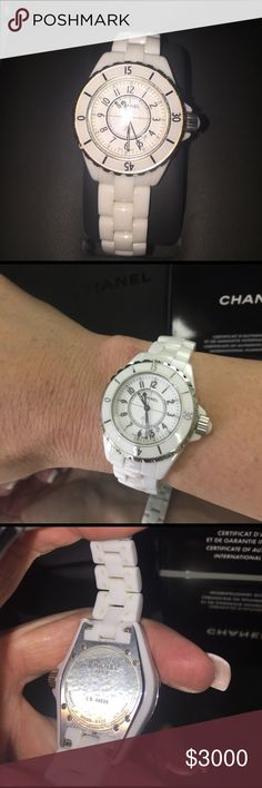 Chanel watch J12 white Chanel watch CHANEL Accessories Watches