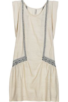 IRO ll raveh embroidered silk dress