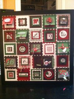 Christmas Advent Calendar using the 25 and Counting Stamp set