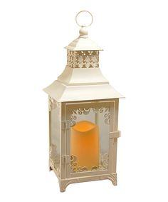 Look at this #zulilyfind! White Flameless Candle & Lantern by LumaBase #zulilyfinds