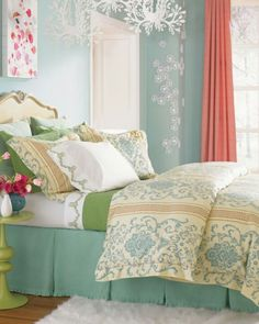 Aqua C Orange With Some Green Bedroom Wow Never Would Thought Of Putting
