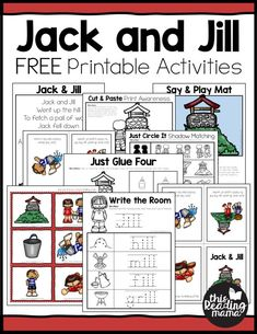 Printable Jack and Jill Nursery Rhyme Activities - free from This Reading Mama