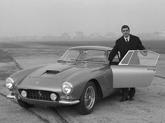 Young Gianni Agnelli of Fiat with his 1959 Ferrari 250 GT SWB