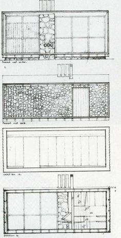 Ralph Erskine - Lådan (The Box), the architect's own retreat, South Stockholm, 1942