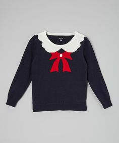 Look at this Navy School Girl Sweater - Toddler & Girls on #zulily today!