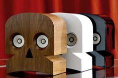 Horror Society: Skull Shaped Speakers   http://www.horrorsociety.com/2012/01/10/skull-shaped-speakers/