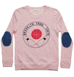 """Brooklyn We Go Hard """"Brooklyn from Tokyo"""" Sweater. #fashion #elbowpatches"""
