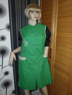 Nylon Kittel Schürze XXL Vintage Glanz Blouse Sissy Boy Silk Apron Overall in Kleidung & Accessoires, Vintage-Mode, Vintage-Mode für Damen | eBay!