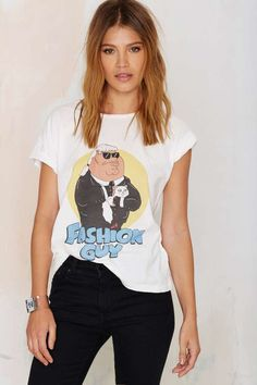 This tee combines two of our favorite things: fashion and Family Guy.
