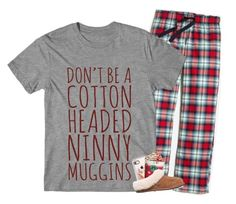 """Christmas Pajama Party!! RTD"" by kat-attack ❤ liked on Polyvore featuring J.Crew, Casetify and UGG"