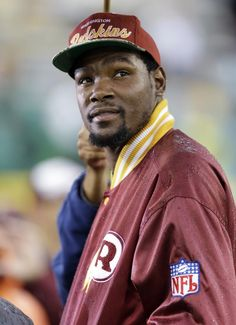 KD at Lambeau to cheer on the Redskins!