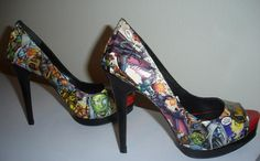 Warcraft Comic Shoes! A gamer girl's dream come true.