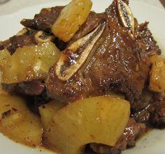 Costillas de cerdo en salsa de piña