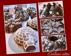 Emilian aitta: Jouluinen suklaakakku! Halloween Cupcakes, Red Velvet, Waffles, Cereal, Breakfast, Food, Breakfast Cafe, Essen, Waffle