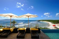 Equity Estates Home in Lover's Cove, Anguilla. One of the most relaxing spots at the home. Beach Haven, Luxury Villa Rentals, Beautiful Space, Amazing Architecture, Estate Homes, Caribbean, Patio, Vacation, Places