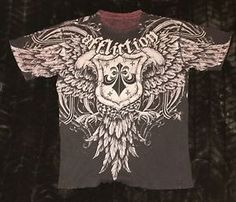 Affliction Brand Men's Graphic T Shirt Vintage Distressed Wash Black Men's Sz M | eBay