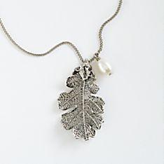 Lacy Oak-leaf Necklace