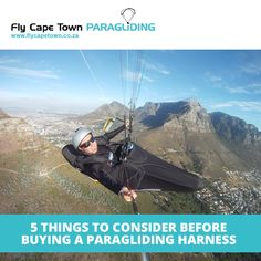 Choosing your paragliding harness is just as important as choosing your paraglider. It comes down to how comfortability, how padded it is, how the straps fit and how you fit in it. These are all important and can affect how you fly. Paragliding, Tandem, Cape Town, Things To Come, Social Media, Confident, Perspective, Travel, Videos