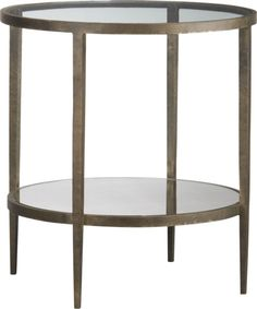 I love the mix of metal and wood. The Clairemont Side Table from Crate & Barrel is a gorgeous element to add, and has a richness to it.