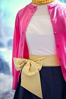 hot pink and navy...
