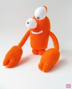 {Amigurumi Greg the Crab Monster}