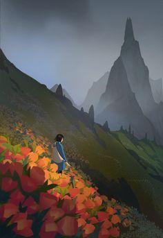 World of Our Fantasy — studio ghibli Fantasy Art Landscapes, Fantasy Landscape, Landscape Art, Japon Illustration, Landscape Illustration, Digital Illustration, Wie Zeichnet Man Manga, Art Environnemental, Scenery Wallpaper