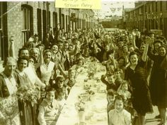 My gt Auntie is in here celebrating the end of ww2 on Edmund street Kettering